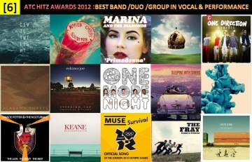 atc hitz awards 2012 - best band, duo or group in vocal and performance