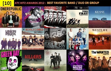 atc hitz awards 2012 - best favorite band,duo or group