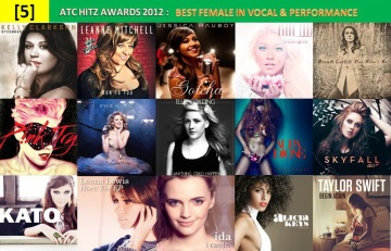 atc hitz awards 2012 - best female in vocal and performance