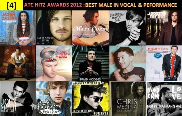 atc hitz awards 2012 - best male in vocal and performance